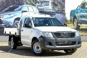 2014 Toyota Hilux TGN16R MY14 Workmate 4x2 White 4 Speed Automatic Cab Chassis Morley Bayswater Area Preview