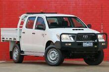 2014 Toyota Hilux KUN26R MY14 SR Double Cab White 5 Speed Manual Utility Pakenham Cardinia Area Preview