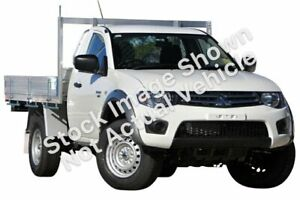 2014 Mitsubishi Triton MN MY15 GLX White 5 Speed Manual Cab Chassis Wayville Unley Area Preview