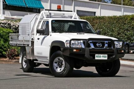 2011 Nissan Patrol GU 6 Series II DX White 5 Speed Manual Cab Chassis