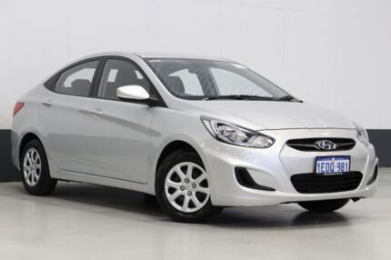 2014 Hyundai Accent RB2 Active Silver 4 Speed Automatic Sedan Bentley Canning Area Preview