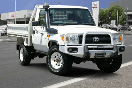 2013 Toyota Landcruiser VDJ79R MY13 Workmate French Vanilla 5 Speed Manual Cab Chassis Adelaide CBD Adelaide City Preview