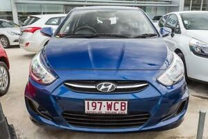 2015 Hyundai Accent RB3 MY16 Active Dazzling Blue 6 Speed Constant Variable Hatchback Mount Gravatt Brisbane South East Preview