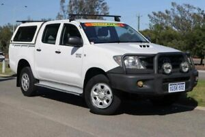 2009 Toyota Hilux KUN26R MY09 SR Glacier White 4 Speed Automatic Utility Clarkson Wanneroo Area Preview