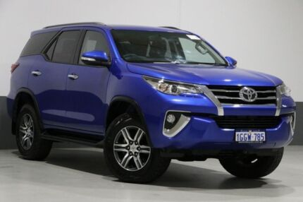 2017 Toyota Fortuner GUN156R GXL Blue 6 Speed Automatic Wagon Bentley Canning Area Preview