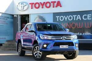 2016 Toyota Hilux GUN126R SR5 (4x4) Nebula Blue 6 Speed Automatic Dual Cab Utility Old Guildford Fairfield Area Preview