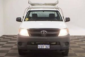 2007 Toyota Hilux TGN16R MY07 Workmate White 5 Speed Manual Cab Chassis Thornlie Gosnells Area Preview