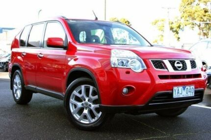 2010 Nissan X-Trail T31 Series III TI Red 1 Speed Constant Variable Wagon