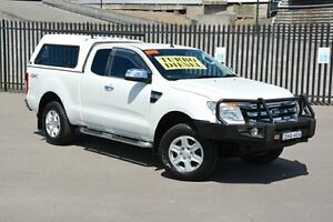 2012 Ford Ranger PX XLT Super Cab White 6 Speed Sports Automatic Utility Broadmeadow Newcastle Area Preview