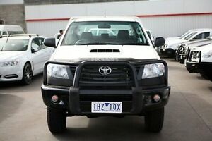 2012 Toyota Hilux KUN26R MY12 Workmate Double Cab White 4 Speed Automatic Utility Frankston Frankston Area Preview