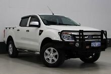 2014 Ford Ranger PX XLS 3.2 (4x4) White 6 Speed Automatic Dual Cab Utility Bentley Canning Area Preview
