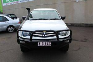 2013 Mitsubishi Triton MN MY13 GLX Double Cab White 5 Speed Manual Utility Toowoomba Toowoomba City Preview