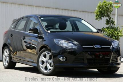 2015 Ford Focus LW MKII MY14 Sport PwrShift Panther Black 6 Speed Sports Automatic Dual Clutch Hatch Tuggerah Wyong Area Preview