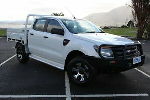 2012 Ford Ranger PX XL Double Cab White 6 Speed Sports Automatic Cab Chassis Derwent Park Glenorchy Area Preview