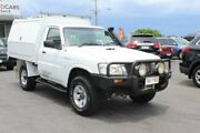 2010 Nissan Patrol GU 6 MY10 DX White 5 Speed Manual Cab Chassis Tingalpa Brisbane South East Preview