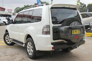 2012 Mitsubishi Pajero NW MY13 GLX-R LWB (4x4) White 5 Speed Auto Sports Mode Wagon Wolli Creek Rockdale Area Preview
