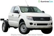 2015 Ford Ranger PX XL Super Cab 4x2 Hi-Rider White 6 Speed Sports Automatic Cab Chassis Wangara Wanneroo Area Preview