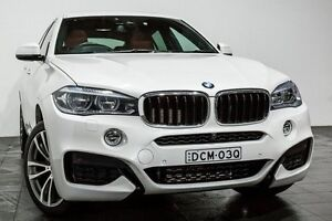 2015 BMW X6 F16 xDrive30d Coupe Steptronic White 8 Speed Sports Automatic Wagon Rozelle Leichhardt Area Preview