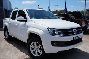 2012 Volkswagen Amarok 2H MY12 TDI400 4Mot Trendline White 6 Speed Manual Cab Chassis Pearce Woden Valley Preview