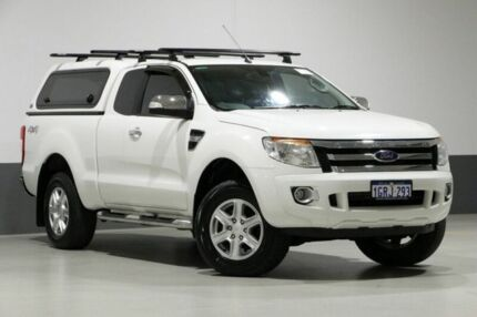 2014 Ford Ranger PX XLT 3.2 (4x4) White 6 Speed Automatic Super Cab Utility Bentley Canning Area Preview
