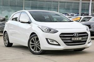 2016 Hyundai i30 GD3 Series II MY17 Premium DCT Crystal White 7 Speed Sports Automatic Dual Clutch