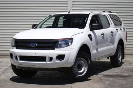 2012 Ford Ranger PX XL Double Cab 4x2 Hi-Rider White 6 Speed Manual Utility