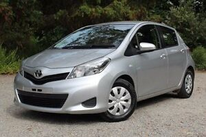 2014 Toyota Yaris NCP130R YR Silver 4 Speed Automatic Hatchback Hawthorn Mitcham Area Preview