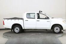2008 Toyota Hilux KUN16R 07 Upgrade SR White 5 Speed Manual Dual Cab Pick-up Smithfield Parramatta Area Preview