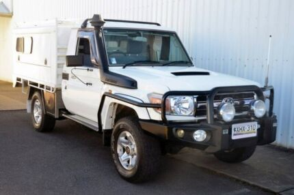 2007 Toyota Landcruiser VDJ79R GXL White 5 Speed Manual Cab Chassis Port Adelaide Port Adelaide Area Preview