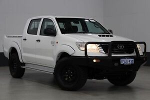 2012 Toyota Hilux KUN26R MY12 SR (4x4) White 5 Speed Manual Dual Cab Pick-up Bentley Canning Area Preview