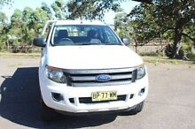 2012 Ford Ranger PX XL Super Cab 4x2 White Sports Automatic Cab Chassis South Maitland Maitland Area Preview