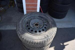 Toyota Corolla 185/65/15 Michelin Snows On Rims 60% Tread