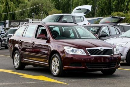 2010 Skoda Octavia 1Z MY11 103TDI DSG Burgundy 6 Speed Sports Automatic Dual Clutch Wagon Ringwood East Maroondah Area Preview