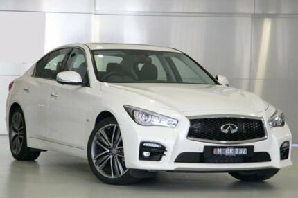 2015 Infiniti Q50 V37 2.0T S Premium Moonlight White 7 Speed Automatic Sedan Woolloomooloo Inner Sydney Preview