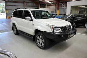 2008 Toyota Landcruiser Prado KDJ120R VX White 5 Speed Automatic Wagon Maryville Newcastle Area Preview