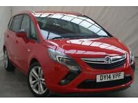 2014 Vauxhall Zafira Tourer 2.0 SRI CDTI 5d 162 BHP Diesel red Manual