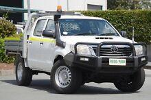2012 Toyota Hilux KUN26R MY12 SR Double Cab Glacier White 4 Speed Automatic Utility Acacia Ridge Brisbane South West Preview