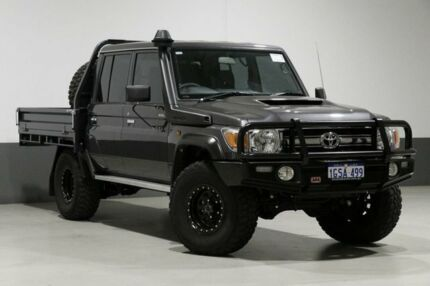 2018 Toyota Landcruiser VDJ79R MY18 GXL (4x4) Grey 5 Speed Manual Double Cab Chassis Bentley Canning Area Preview