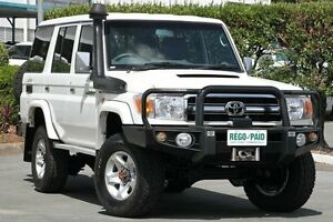2012 Toyota Landcruiser VDJ76R MY10 GXL White 5 Speed Manual Wagon Acacia Ridge Brisbane South West Preview