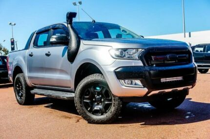 2016 Ford Ranger PX MkII XLT Double Cab Silver 6 Speed Sports Automatic Utility Balcatta Stirling Area Preview