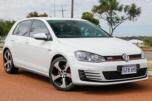 2014 Volkswagen Golf VII MY15 GTI DSG Pure White 6 Speed Sports Automatic Dual Clutch Hatchback Wangara Wanneroo Area Preview