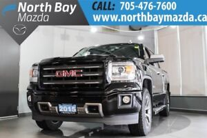 2015 GMC Sierra SLT with Crew Cab, 4X4, Tonneau Cover, Side Step