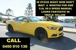 2016 Ford Mustang FM MY17 Fastback GT 5.0 V8 Yellow 6 Speed Manual Coupe Wangara Wanneroo Area Preview