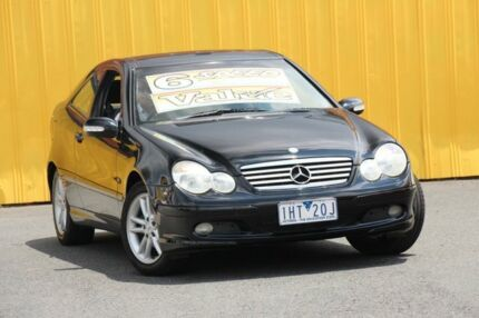 2003 Mercedes-Benz C180 Kompressor CL203 MY2003 Sports Black 6 Speed Manual Coupe Cheltenham Kingston Area Preview