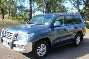 2008 Toyota Landcruiser VDJ200R Sahara (4x4) Blue 6 Speed Automatic Wagon South Maitland Maitland Area Preview