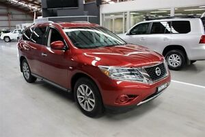 2014 Nissan Pathfinder R52 MY14 ST X-tronic 2WD Burgundy 1 Speed Constant Variable Wagon Maryville Newcastle Area Preview