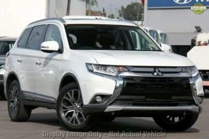 2015 Mitsubishi Outlander ZK MY16 Exceed (4x4) White 6 Speed Continuous Variable Wagon Liverpool Liverpool Area Preview