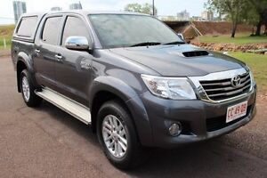 2012 Toyota Hilux KUN26R MY12 SR5 Double Cab Charcoal Grey 4 Speed Automatic Dual Cab The Gardens Darwin City Preview