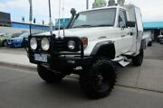 2003 Toyota Landcruiser HDJ79R White 5 Speed Manual Cab Chassis Dandenong Greater Dandenong Preview