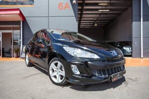 2010 Peugeot 308 T7 XTE Black 6 Speed Sports Automatic Hatchback